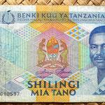 Tanzania 500 shilingi 1989 anverso
