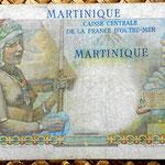 Isla Martinica 50 francos 1947 reverso