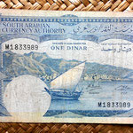 Yemen Democratic Republic 1 dinar 1965 (152x88mm)  anverso