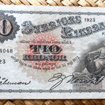 Suecia 10 coronas 1923 anverso