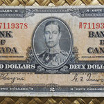 Canada 2 dollars 1937 (154x73mm) pk.59c anverso