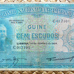 Guinea portuguesa 100 escudos 1964 anverso