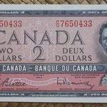 Canada 2 dollars 1954 (154x70mm) pk.76b anverso