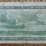Canada 1 dollar 1954 -Devil's Hair- pk.66a reverso