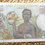 French West Africa 100 francos 1948 anverso