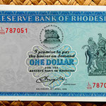 Rodesia 1 dólar 1978 (134x74mm) anverso