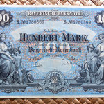 Alemania 100 marcos 1900 Bayerische Bank anverso