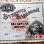 Suecia 100 coronas 1961 anverso