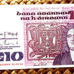 Irlanda 10 pounds 1986 anverso
