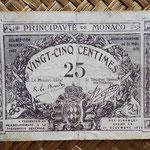 Mónaco, 25 céntimos 1920 (70x50mm) pk.2c anverso