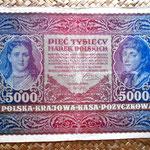 Polonia 5000 marka 1920 (225x140mm) pk. 31 anverso
