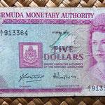 Bermuda 5 dollars 1970 anverso