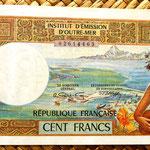 Polinesia francesa 100 francos 1996  anverso