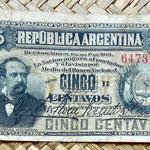 Argentina 5 centavos de peso 1884 anverso