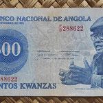 Angola 500 kwanzas 1979 (138x65mm) pk.116a anverso