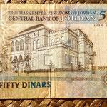 Jordania 50 dinares 2007 reverso