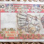 Senegal 10000 francos 1989 anverso