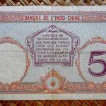 Polinesia francesa 5 francos 1927 pk. 11c reverso