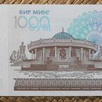 Uzbekistan 1.000 sum 2001 (144x77mm) pk.82 reverso