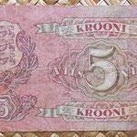 Estonia 5 krooni 1929 (128x70mm) pk62 reverso