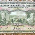 Bolivia 500 bolivianos 1928 (176x90mm) anverso
