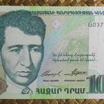 Armenia 1.000 dram 2001 (140x70mm) pk.50b anverso