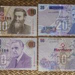 Irlanda del Norte serie libras Northern Bank 1997-2011 anversos