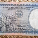 Mozambique colonial 1000 escudos 1972 reverso