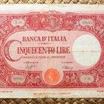 Italia 500 liras 1944 anverso