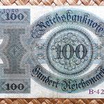 Alemania 100 reichsmark 1924 reverso