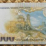 Armenia 100.000 dram 2009 (162x72mm) pk.54 reverso