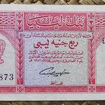 Libia 0,25 libras 1963 (135x58mm) pk.28 anverso
