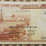 Libano 1 libra 1964 (140x68mm) pk.55b anverso