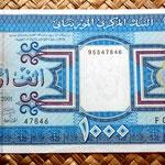 Mauritania 1000 ouguiya 2001 anverso