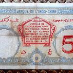 Yibuti 5 francos 1928-38 pk. 6b reverso