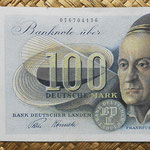 Alemania Occidental 100 marcos 1948 BdL (160x80mm) pk.15a anverso