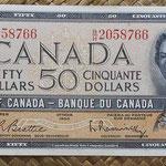 Canada 50 dollars 1954 (152x70mm) pk.81b anverso