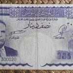 Tunez 0.50 dinar 1958 (138x72mm) pk.57 anverso