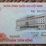 Vietnam del Sur 500 dong 1972 (152x76mm) pk.33a anverso