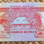 Islas Seychelles 100 rupias 1989 reverso