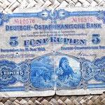 Tanganica alemana 5 rupias 1905 anverso
