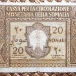 Somalia ocup. italiana 20 somalis 1950 anverso
