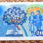 Checoslovaquia 20 korun 1988 reverso