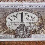 Mónaco, 1 franco 1920 (108x72mm) pk.4a anverso