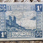 Empire Cherifien Protectorado francés 1 franco 1944 pk.42 reverso