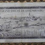 Luxemburgo 50 francos 1961 (140x75mm) pk.51a reverso