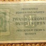 Bohemia y Moravia 20 coronas 1944 reverso