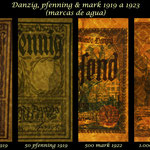 Danzig serie pfenning-marks 1919-1923 filigranas