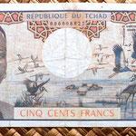 Chad 500 francos 1974 anverso
