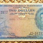 British Caribbean Territories 2 dolar 1958 anverso